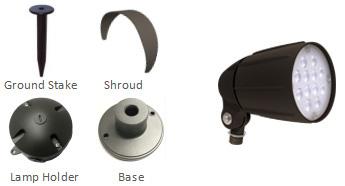 12W LED-bullet-flood-light-accessories