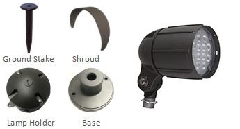 12W-LED-bullet-flood-light-accessories