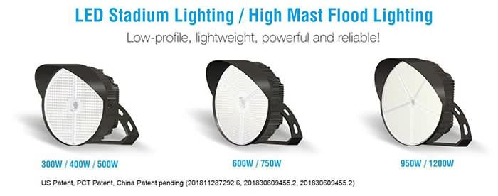 Green Inova Launches New High Output LED Sports Light/LED High Mast Light Fixtures