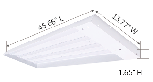200W 300W Linear high bay dimension-Green Inova