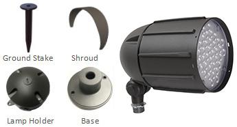 40W-LED-bullet-flood-light-accessories