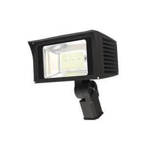 "100W LED Flood Light Fixtures Outdoor Lighting IP65 Waterproof NEMA 6Hx6V using Nichia LEDs UL/cUL listed with 6 Years Warranty Slip Fitter/Straight Arm/Trunnion Bracket/1/2"" NPT Connector Mounting (4FL Series)"