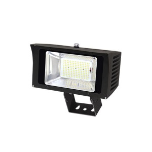 "100W LED Flood Light Fixtures Outdoor Lighting IP65 Waterproof NEMA 6Hx6V using Nichia LEDs UL/cUL listed with 6 Years Warranty Slip Fitter/Straight Arm/Trunnion Bracket/1/2"" NPT Connector Mo..."