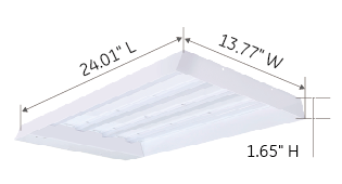 80W 100W Linear high bay dimension-Green Inova