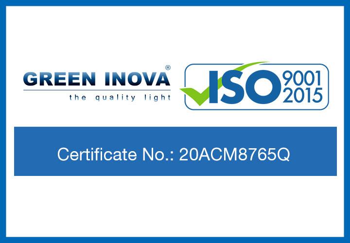 Green Inova has been awarded new ISO 9001:2015 Certification