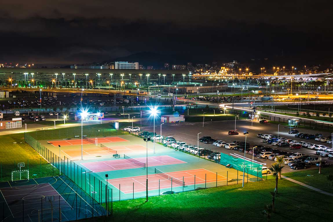 Why is the LED light stadium special system popular?