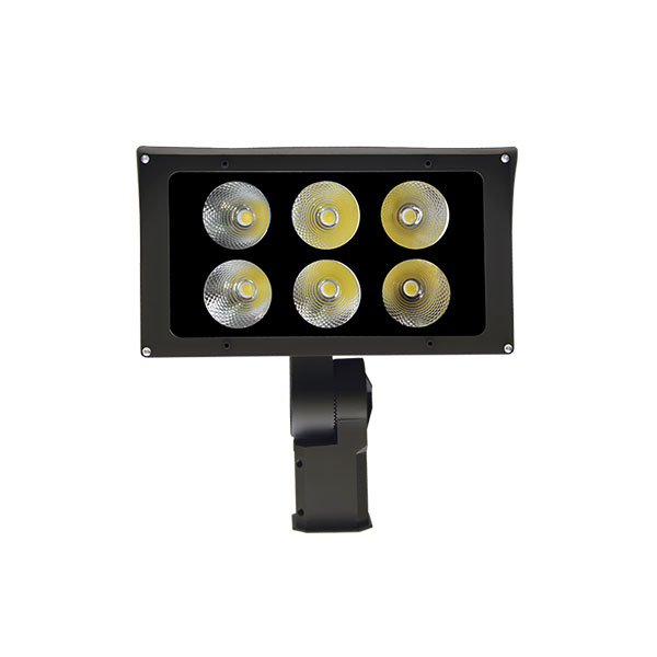 """Factory Promotional Led Dusk To Dawn Light - 120W LED Flood Light Fixtures Security Flood Lights Exterior Lighting Dimming, Sensors Control and Surge Protector Available NEMA 6Hx6V or NEMA 3Hx3V using Nichia LEDs with 6 Years Warranty Slip Fitter/Straight Arm/Trunnion Bracket/1/2"""" NPT Connector Mounting (4FL Series) – Inova"""