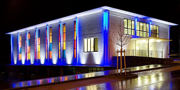 RGBW Flood Lights for Christmas Building Decoration